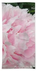Bath Towel featuring the digital art Soft Pink Peony by Jeannie Rhode