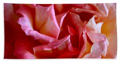 Hand Towel featuring the photograph Soft Pink Petals Of A Rose by Janice Rae Pariza
