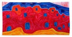 Soft Pueblo Original Painting Hand Towel