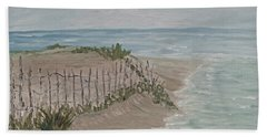 Hand Towel featuring the painting Soft Sea by Barbara McDevitt