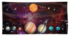Solar System 1 Hand Towel by Garry Walton