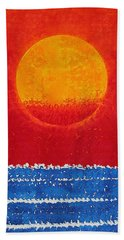 Solstice Sunrise Original Painting Sold Hand Towel