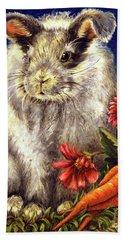 Some Bunny Is A Fuzzy Wuzzy Bath Towel by Linda Simon