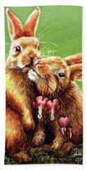 Some Bunny Loves You Bath Towel by Linda Simon