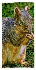 Some Squirrels Are Big Hand Towel by Bob and Nadine Johnston