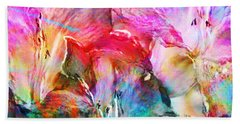 Somebody's Smiling - Abstract Art Hand Towel