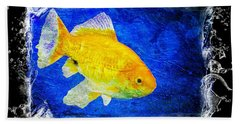 Blue Bath Towel featuring the photograph Something Fishy by Aaron Berg