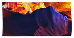 Bath Towel featuring the photograph Somewhere In America Series - Antelope Canyon by Lilia D
