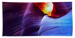Hand Towel featuring the photograph Somewhere In America Series - Blue In Antelope Canyon by Lilia D