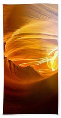 Hand Towel featuring the photograph Somewhere In America Series - Gold Colors In Antelope Canyon by Lilia D