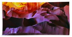 Hand Towel featuring the photograph Somewhere In America Series - Transition Of The Colors In Antelope Canyon by Lilia D