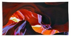 Bath Towel featuring the photograph Somewhere In Waves In Antelope Canyon by Lilia D