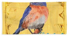 Colorful Songbirds 1 Hand Towel