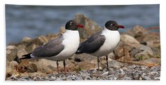 Mr. And Mrs. Laughing Gull  Bath Towel