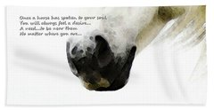 Soul Touch - Emotive Horse Art By Sharon Cummings Hand Towel
