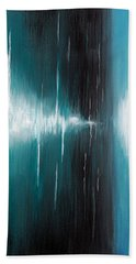 Hand Towel featuring the painting Hear The Sound by Michelle Joseph-Long