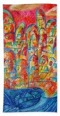 Sound Of Shofar Hand Towel by Leon Zernitsky
