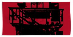 Bath Towel featuring the digital art South Beach Lifeguard Stand by Jean luc Comperat