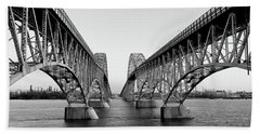 South Grand Island Bridges, New York Bath Towel