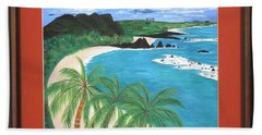 Bath Towel featuring the painting South Pacific by Ron Davidson