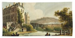 South Parade From Bath Illustrated Hand Towel