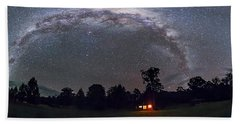 Southern Milky Way Panorama Rectilinear Hand Towel
