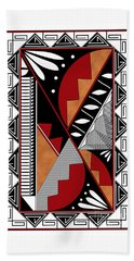 Southwest Collection - Design Seven In Red Hand Towel