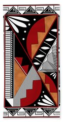 Southwest Collection - Design Seven In Red Bath Towel
