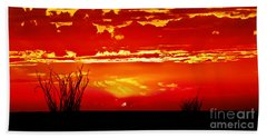 Southwest Sunset Hand Towel by Robert Bales