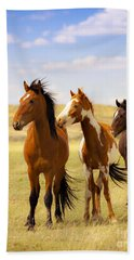 Southwest Wild Horses On Navajo Indian Reservation Bath Towel by Jerry Cowart