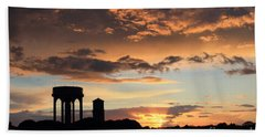 Water Towers On Southwold Common Hand Towel