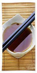 Soy Sauce With Chopsticks Hand Towel