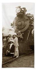 S P Baldwin Locomotive 2285  Class T-26 Ten Wheel Steam Locomotive At Pacific Grove California 1910 Hand Towel