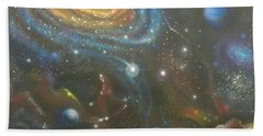 Space Dolphins Bath Towel