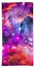 Space Image Small Magellanic Cloud Smc Galaxy Bath Towel by Matthias Hauser