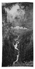 Spahats Creek Canyon In Wells Gray Provincial Park Bath Towel