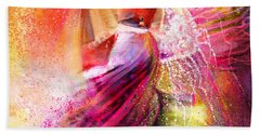 Spain - Flamencoscape 12 Bath Towel by Miki De Goodaboom
