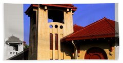 Spanish Architecture Tile Roof Tower Bath Towel