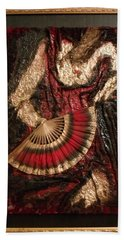 Spanish Dancer Framed Bath Towel