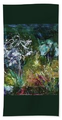 Bath Towel featuring the painting Sparkle In The Shade by Mary Wolf