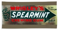 Spearmint Gum Sign Vintage Bath Towel