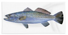 Speckled Trout Hand Towel by Carey Chen