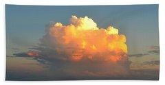 Spectacular Cloud In Sunset Sky Hand Towel