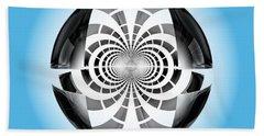 Bath Towel featuring the digital art Spheroid by GJ Blackman
