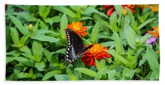 Spicebush Swallowtail Bath Towel by Angela DeFrias