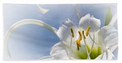 Spider Lily Bath Towel by Jane McIlroy