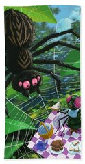 Spider Picnic Hand Towel by Martin Davey