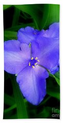Spiderwort Bath Towel