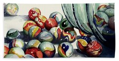Spilled Marbles Bath Towel by Sam Sidders