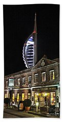 Spinnaker Tower And Old Customs House Portsmouth Bath Towel